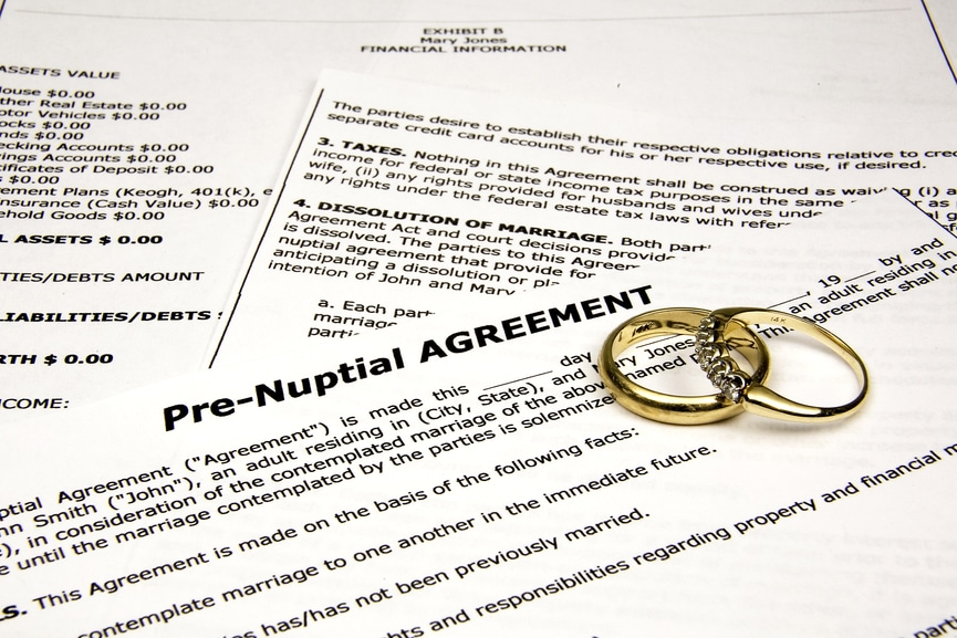 pre-nuptial agreements in miami, fl